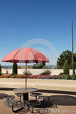 Providing shade on a sunny day