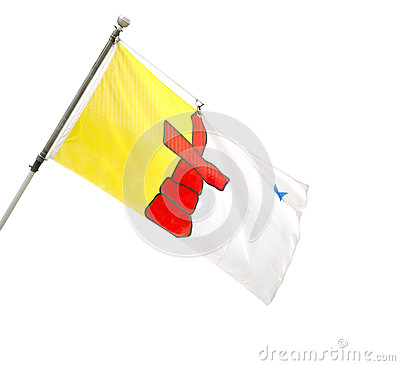 Free Provincial Flag Of Nunavut, Canada. Stock Photography - 31137032