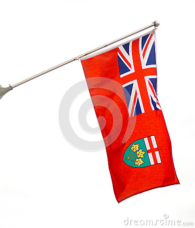 Free Provincial Flag Of Ontario, CAnada Stock Photography - 31477382