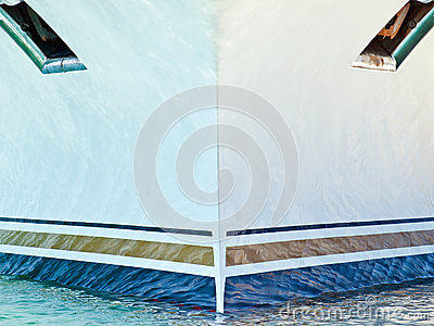 Prow of cruise ship