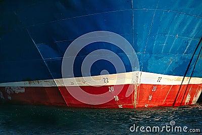 Prow of fishing ship