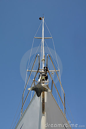 Prow of a sailing boat