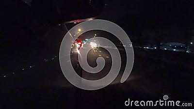 prowadnikowa szybka noc W świetle, bocznego samochodu widz zbiory