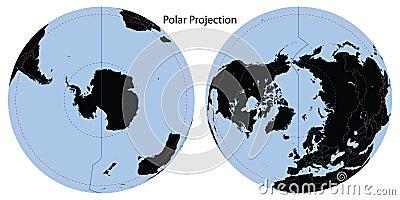Proyección polar de la correspondencia de mundo