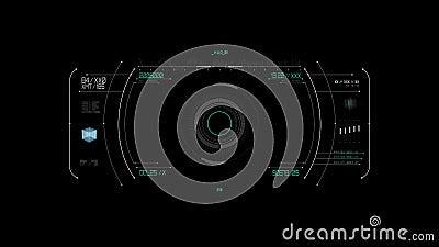 Proyecci?n de la pantalla virtual sobre fondo negro almacen de metraje de vídeo