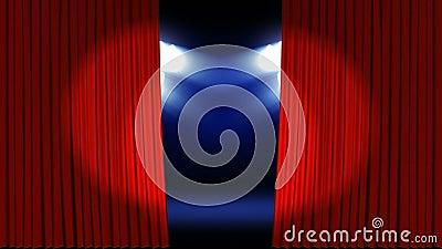 Proyectores en una etapa del teatro