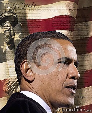 Präsident Obama Redaktionelles Stockbild