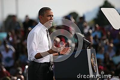 Präsidentschaftsanwärter Barack Obama Redaktionelles Foto