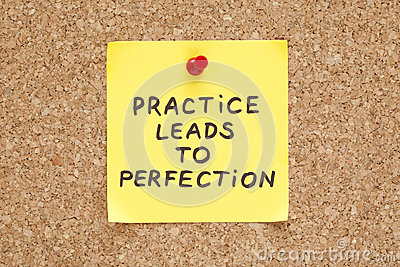 A prática conduz à perfeição