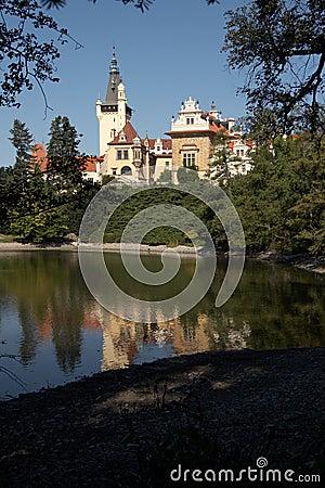 Pruhonice, castle pond (launching)