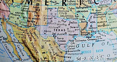 Przędzalniana kuli ziemskiej mapa Teksas usa 4K zbiory wideo
