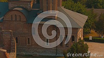 Przechylający ultra zakończenie strzał od Chindia Góruje w Targoviste, Rumunia zdjęcie wideo