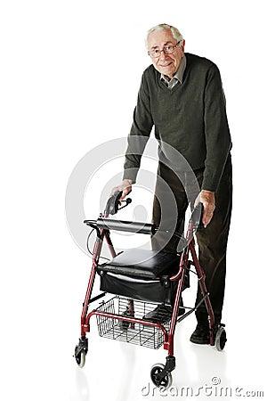 Przespacerowanie starszy piechur