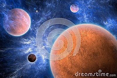 Przestrzeń textured planet sztuki