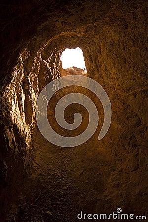 Przyglądający kopalni przyglądający portal