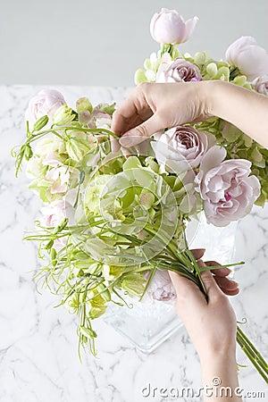 Przygotowania kwiat