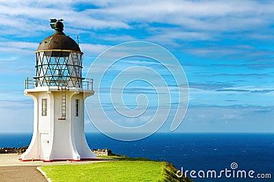 Przylądka latarni morskiej nowy reinga Zealand