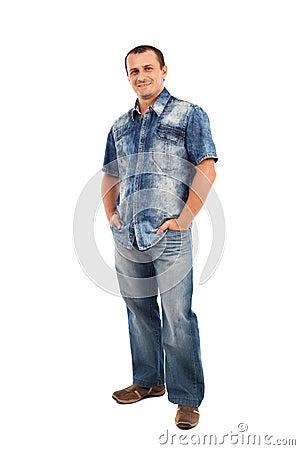 Przypadkowy mężczyzna, pełna długość