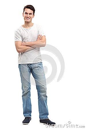 Przypadkowy młody człowiek
