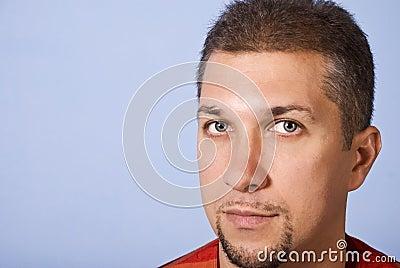 Przystojny twarz mężczyzna