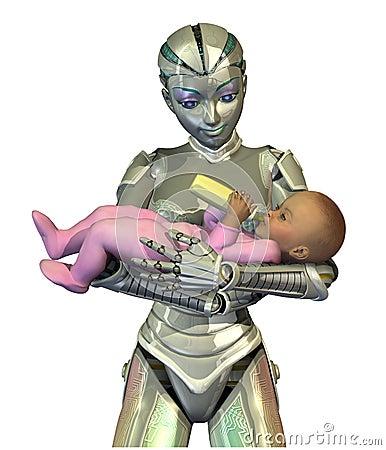 Przyszłość robonanny opieki dzieckiem
