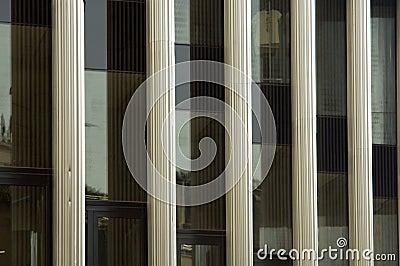 Pseudo columns Acropolis Museum in Athens