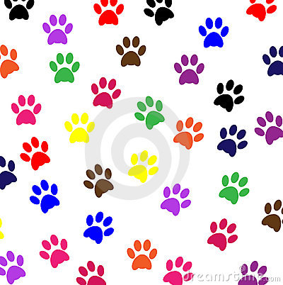 Psi łapy zwierzęcia domowego druki
