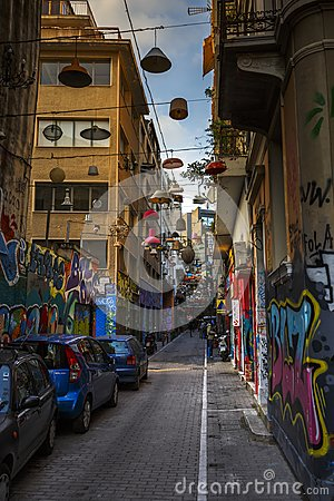 Free Psirri Neighborhood In Athens. Royalty Free Stock Photography - 107534367