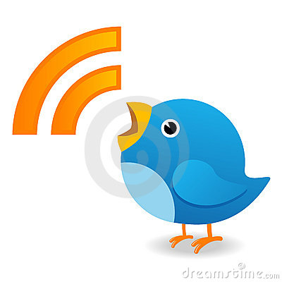 Pássaro do Twitter Imagem Editorial