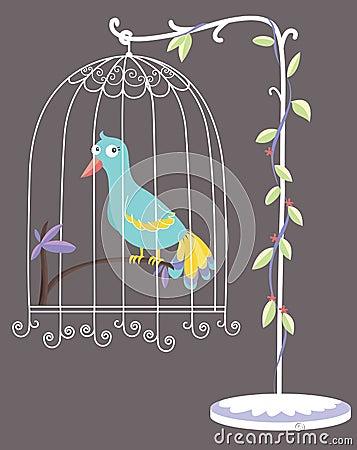 Pássaro em uma gaiola