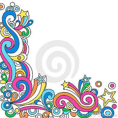 Psychedelic Abstract Notebook Doodle Vector