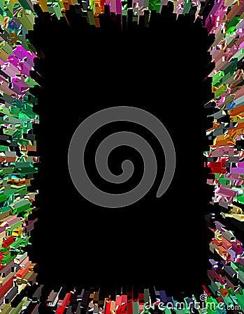 Psychedelic Border or Frame