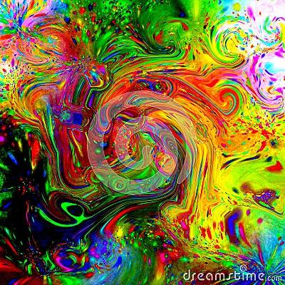 Psychedelic Fluid Tile