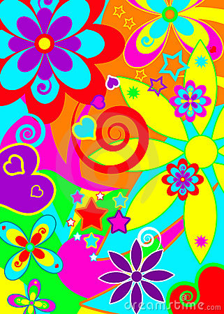 Free Psychedelic Funky Background Royalty Free Stock Photography - 15086167