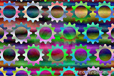 Psychedelic Gears # 3