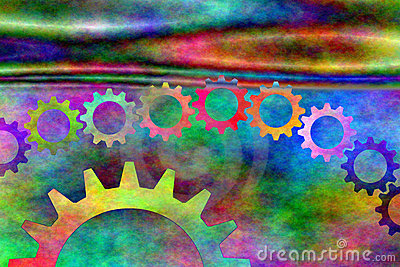 Psychedelic Gears  Royalty Free Stock Photos - Image: 5468938