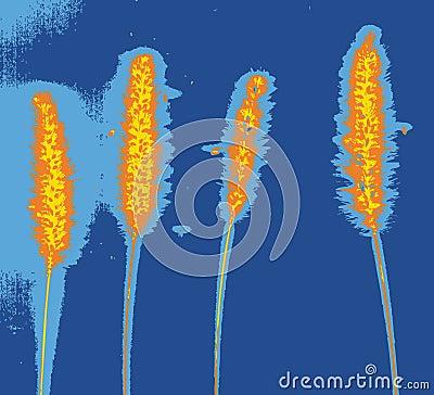 Psychedelic plants (vector)