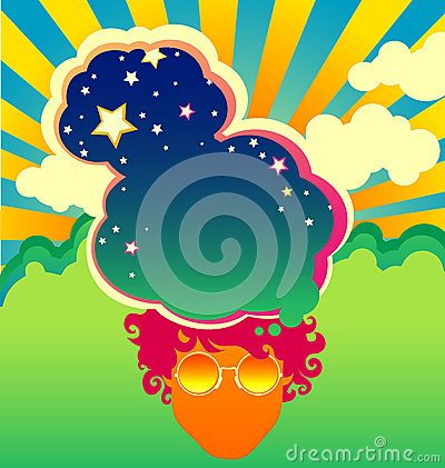 Free Psychedelic Poster Template Royalty Free Stock Images - 40879559