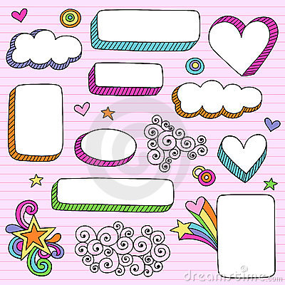 Free Psychedelic Shape Frames Notebook Doodle Vector Stock Images - 12183174