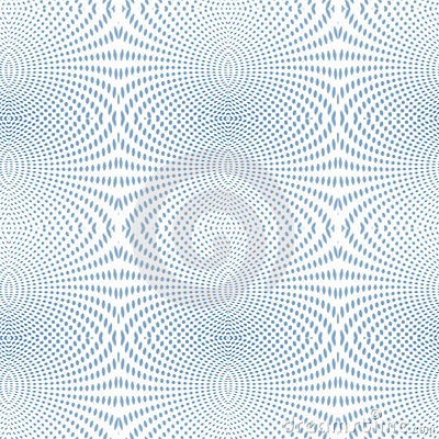 Psychedelic Soft focus halftone blue