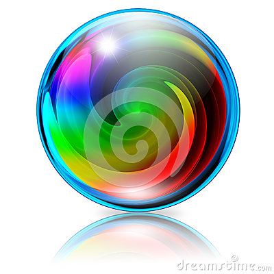 Free Psychedelic Spiral Crystal Sphere Royalty Free Stock Images - 24983649