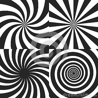 Free Psychedelic Spiral With Radial Rays, Twirl, Twisted Comic Effect, Vortex Backgrounds - Vector Set Royalty Free Stock Photography - 88485877