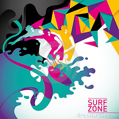 Free Psychedelic Surfing Background. Royalty Free Stock Photography - 20132937