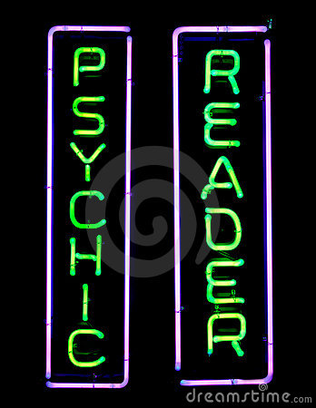 Psychic Neon Sign Stock Photo - Image: 8432760