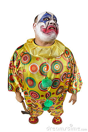 Psycho clown with axe