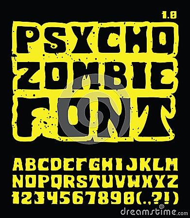 Psycho Zombie Font