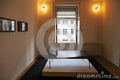 Psychoanalysis couch in Sigmund Freud museum in Vienna Editorial Stock Photo