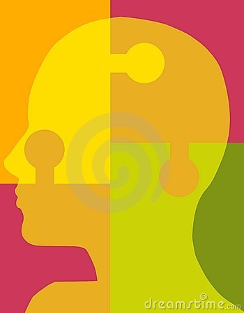 Psychologie-Puzzlespiel-Kopf 2
