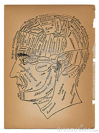 Psychology or medical illustration of male head