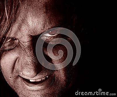 Psychopathe dans l obscurité